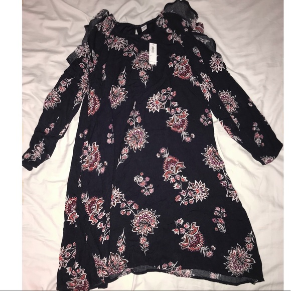 711ce24d8717 Old Navy Dresses | Ruffled Cold Shoulder Swing Dress New With Tags ...